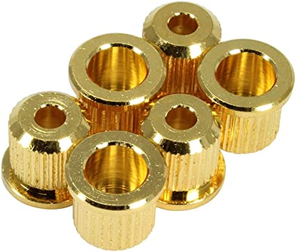 BUSHINGS FERRULES GOLD SET of 6 Rear Guitar Parts