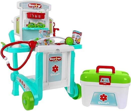 BSD Juego de Imitación Médico Juego de rol Doctor en Maleta - Accesorios Médicos con Mesa con Ruedas: Amazon.es: Juguetes y juegos