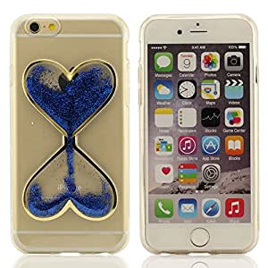 iPhone 6S Funda Carcasa 4.7 inches, iPhone 6 Case Cover 4.7 inches, Reloj de Arena Modelado Serie, Crystal Clear Transparente Líquido Flotante Brillo Polvos Policromo (Rojo Azul Verde Amarillo Rosa caliente)