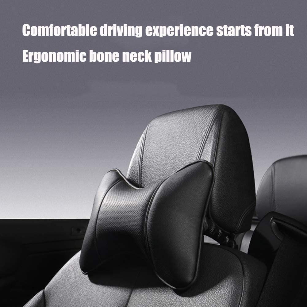 JEVONS Car Neck Pillow, Leather Memory