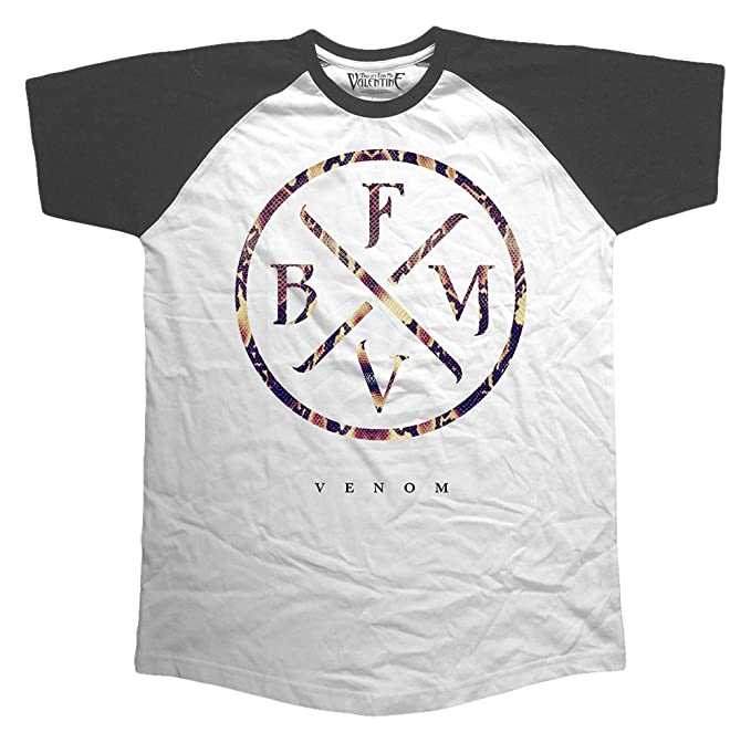 Rockoff Trade Bullet For My Valentine Venom (Raglan), Camiseta para Hombre, Negro