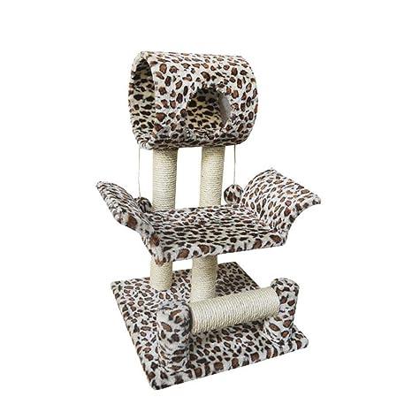 Weiwei Placa de Leopard Cat impresión Escalada Gato árbol Medio Gato escalado Marco uña Gato Gato