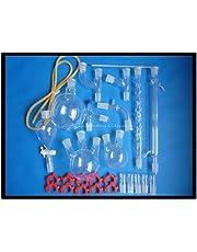 Laboratorio de Química Orgánica Cristalería Kit, Lab cristalería Kit, kit de vidrio de laboratorio