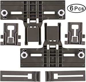 [UPGRADED] W10350376 Dishwasher Top Rack Adjuster & W10195839 Dishrack Adjuster & W10195840 Dishwasher Positioner, High Durable Work with Whirlpool Kenmore Dishwasher