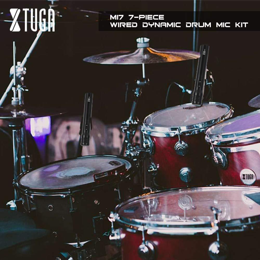 XTUGA MI7 juego de micrófono de batería dinámico de 7 piezas con ...