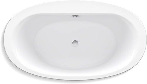 KOHLER K-6369-0 Sunstruck 66-Inch X 36-Inch Oval Freestanding Bath