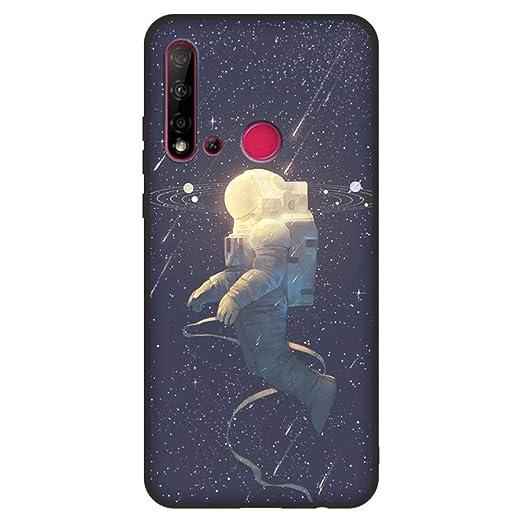 para Huawei Nova 5i TPU Material Pintado Hermosa Pintura de ...