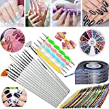 JOYJULY Nail Art Kit includes 30 Striping tape