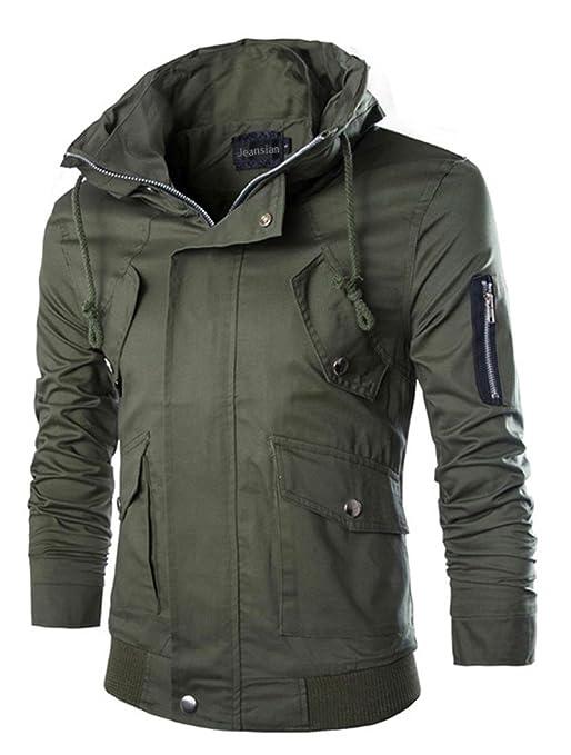 11 opinioni per Jeansian Casuale Sport Uomo Inverno Moda Giacca Uomini Tendenza Cappotto Design