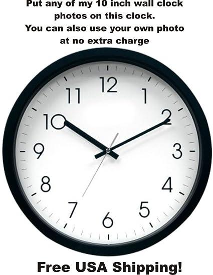 14 Inch Custom Photo Wall Clock-Add Any Photo Free & Free USA Shipping