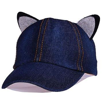 Allboof Sombrero de Sol Ajustable de Gorra de béisbol nCute Cat ...