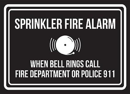 Rociadores contra incendios alarma cuando suena Bell llamada ...