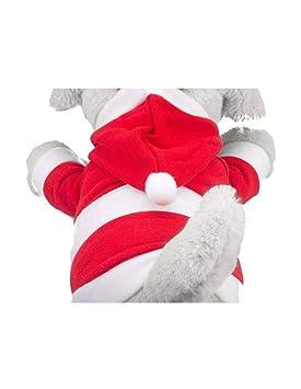 GATTO&DOG Disfraz de Papá Noel para Perros en Tejido Polar, fácil ...