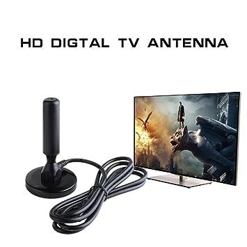 Jintime Antena de TV Digital Portátil Freeview DTA240 de Alta Definición Antena de TV aérea Antena Ariel Base Magnética con Cable de 1.5m: Amazon.es: ...