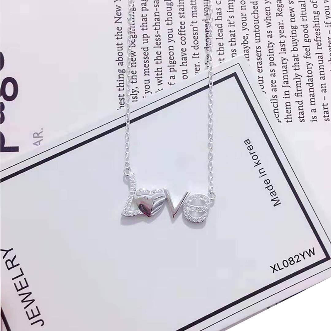 WandT S925 Simple Necklace Young Lady Girls Birthday