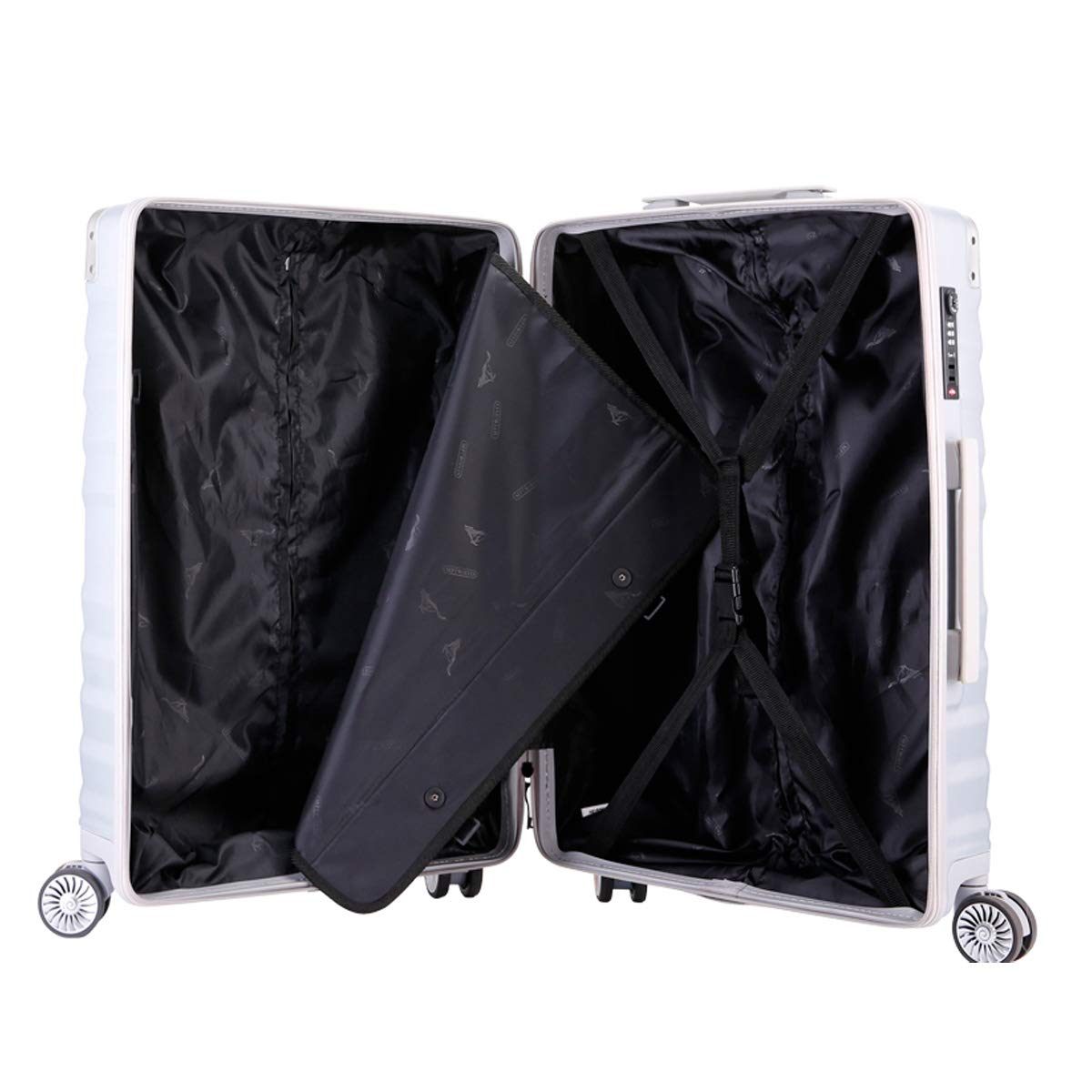 Travel Organizer Bahaowenjuguan Travel Bag Student Password Box Simple and Color : Pink, Size : 20 20//24 inch Silver Hard Trolley case