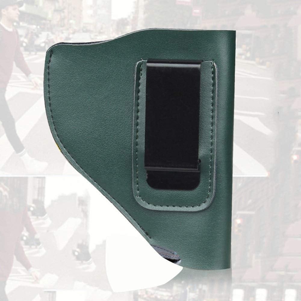 NO LOGO L-Yune, Funda de Pistola de Cuero Dividida for revólver de Marco Taurus Ruger Funda de cinturón Universal táctica Oculta for el Modelo 60/640 (Color : Verde)