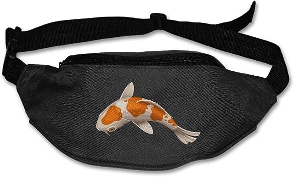 Travel Waist Pack,travel Pocket With Adjustable Belt Koi Fish Fish Running Lumbar Pack For Travel Outdoor Sports Walking
