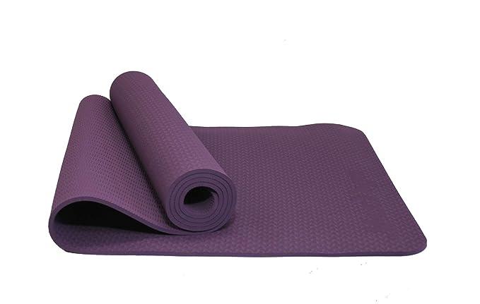 MaxDirect Colchoneta para Yoga Pilates Gimnasia de Material Ecológico TPE. Esterilla Antideslizante Muy Ligera con Grosor de 6mm, tamaño 183cm x 61cm.