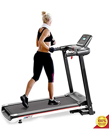 MIERES Motorised electric treadmill Folding Running machine 2019 Digital Control 2.0CHP Motor Up to 12.8KM/H 15 Programmes Walking Machine Portable Gym Equipment for Fitness Workout
