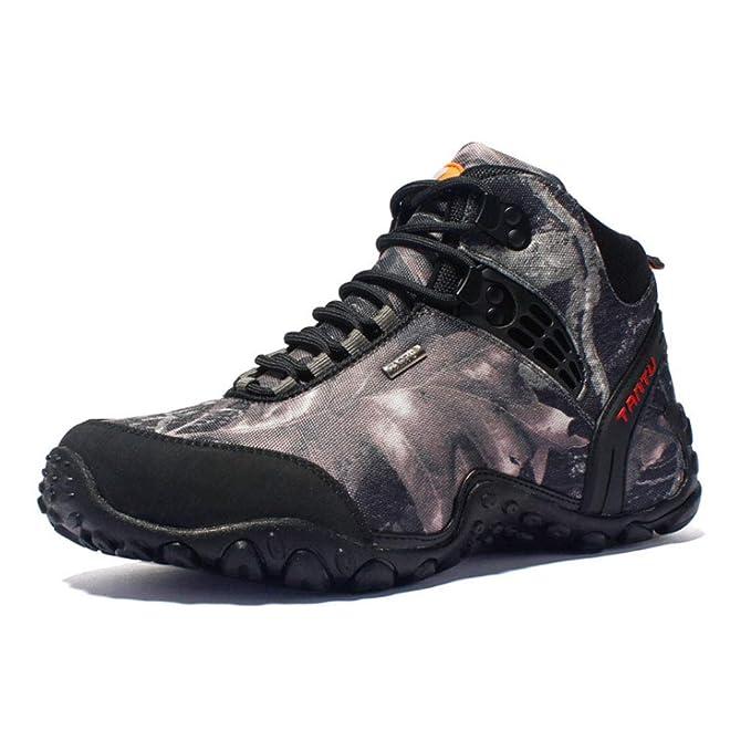 HYLFF Scarpe da trekking uomo caldo-resistente all usura casual stivali  alta montagna traspirante 7f023428563