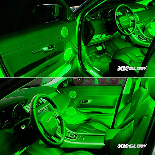 Green 4pcs 36 Led Waterproof Three Mode Neon Accent Light