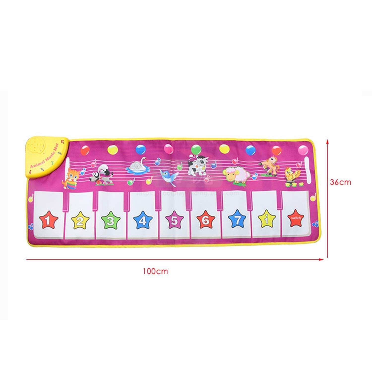 Creative Piano Game Mat, Multi-Function Music Singing Gym Carpet Mat, Children's Entertainment Mat (100x36 cm) by Sunny (Image #2)
