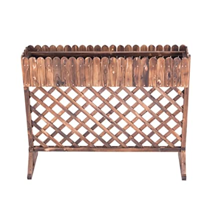 Amazon.com: LXLA- Soporte de madera maciza para maceta de ...