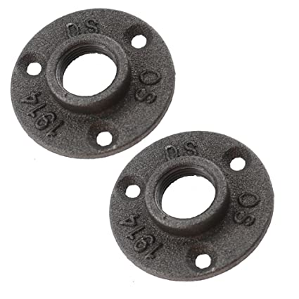 10Pcs 3//4/'/' Flange Malleable Threaded Iron Pipe Fittings Floor Flange Wall Mount