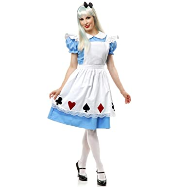Charades Womenu0027s Story Book Alice Costume Set Blue/White X-Small  sc 1 st  Amazon.com : halloween costume book  - Germanpascual.Com