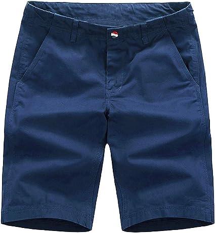 TALLA 38. INCERUN - Pantalones cortos de verano para hombre con 4 bolsillos de algodón