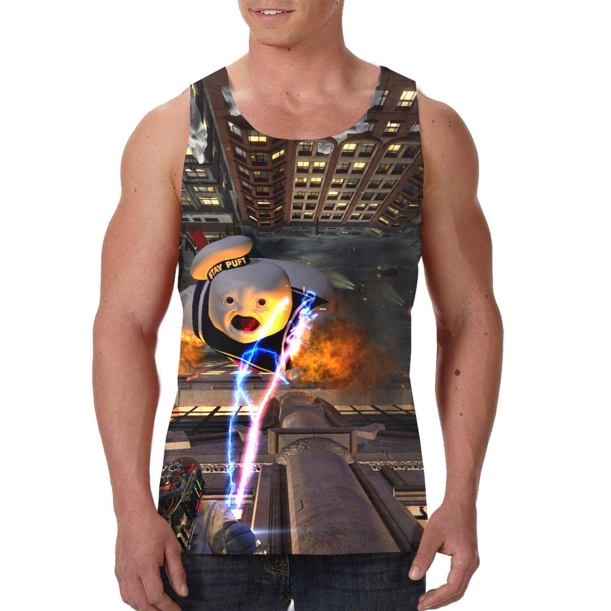 Cheny Ghostbusters Mens Tank Top Slim Fit Muscle Shirt