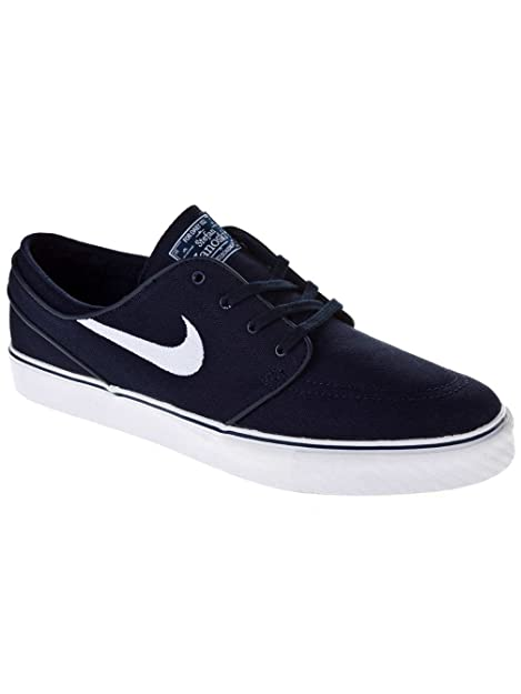 ef986a71f3d Zapatillas Nike - Sb Zoom Stefan Janoski Canvas Obsidian Blanco Negro 46   Amazon.es  Zapatos y complementos