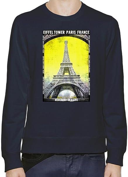 Eiffel Tower Paris France Sudadera Hombres Mujeres XX-Large: Amazon.es: Ropa y accesorios
