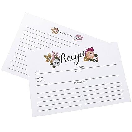 amazon com polite society recipe cards refill set 55 double sided
