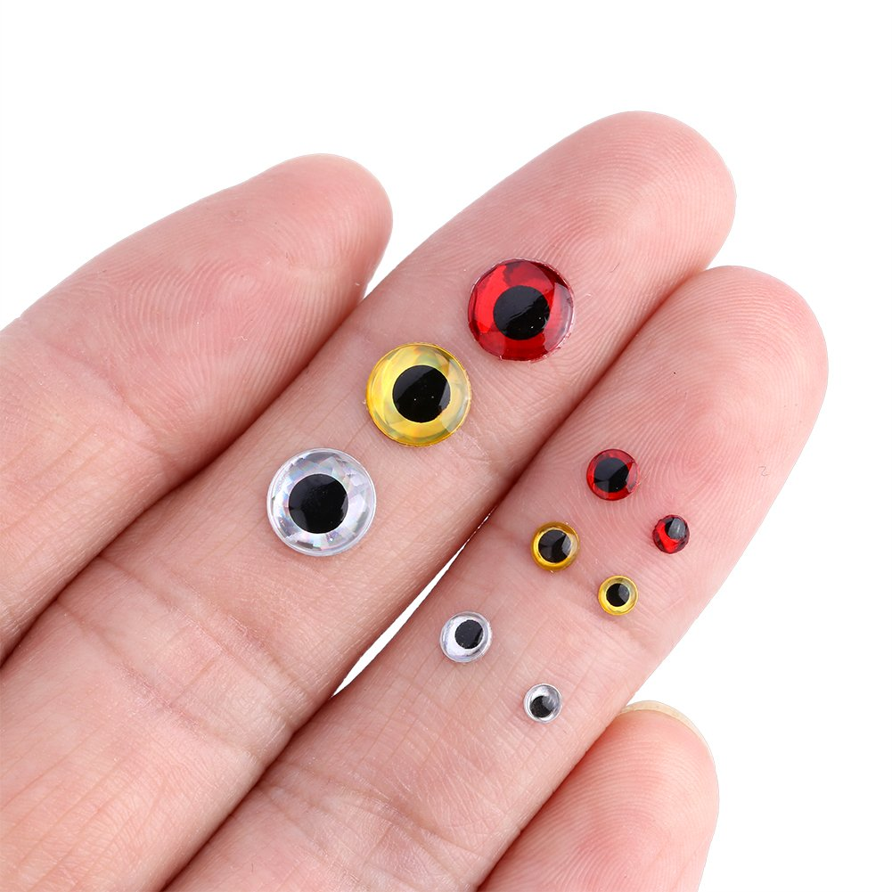 VGEBY 100Pcs Fishing Lure Eyes Holographic Fly Tying Bait Eye 3//4//8mm