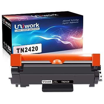 Uniwork Compatible para Brother TN2420 TN-2420 (con Chip) Cartucho ...