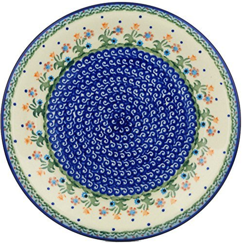 (Polish Pottery Lunch Plate 10-inch Spring Flowers )