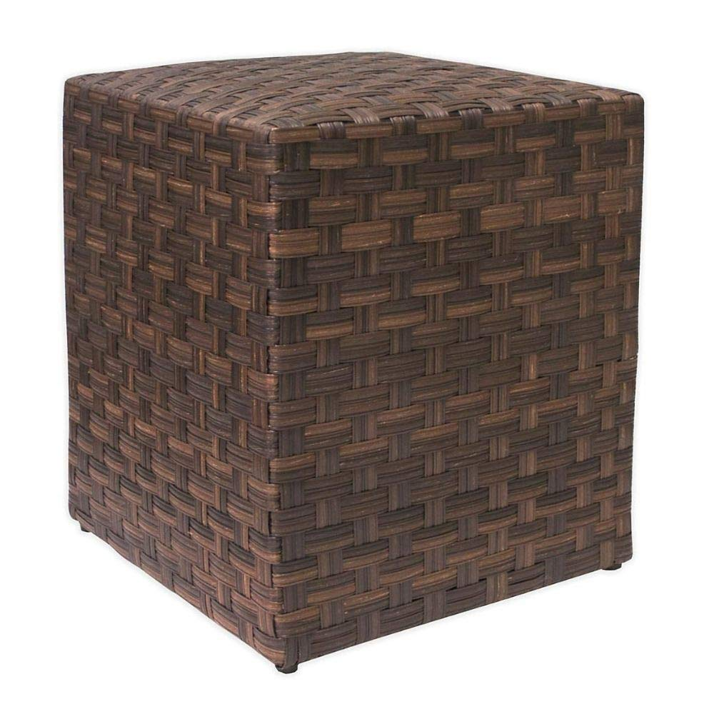 Amazon.com: STS SUPPLIES LTD Square Wicker Patio Table ...