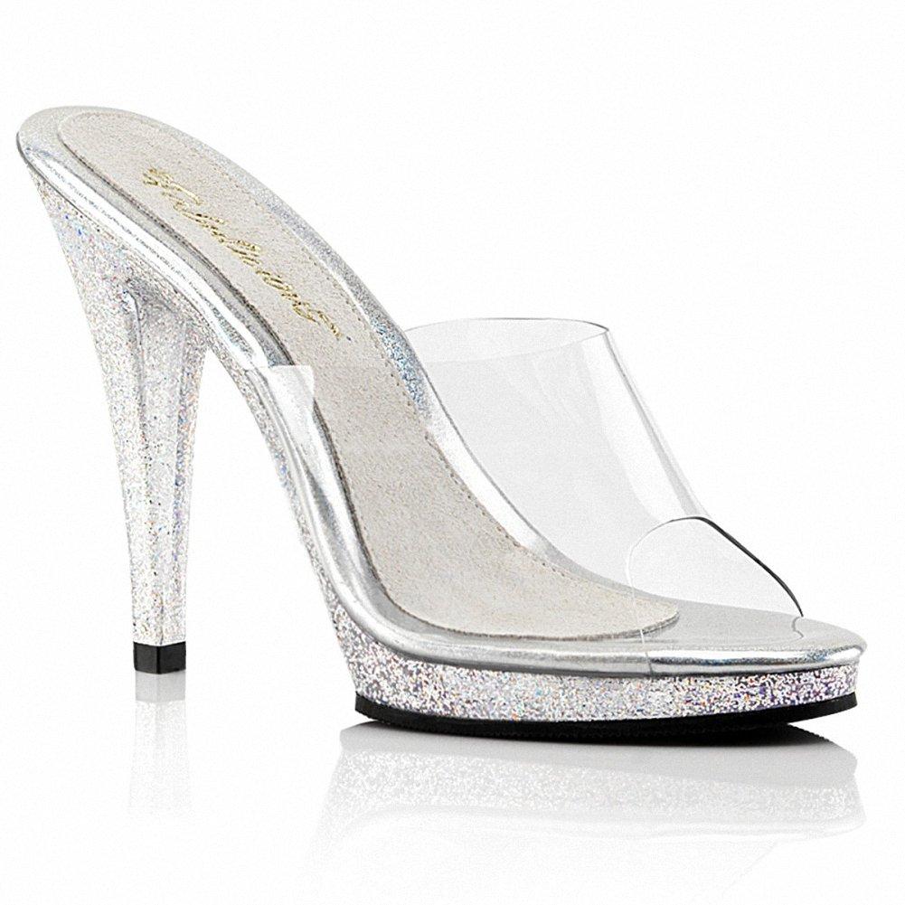 Fabulicious FLAIR-401MG Women 4 1/2 Heel, 1/2 Platform Slide B074F3P2PH 8 B(M) US|Clr/Clr