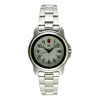 Swiss Army Watch >> Amazon Com Victorinox Swiss Army Women S 24212 Officers 1884 Silver
