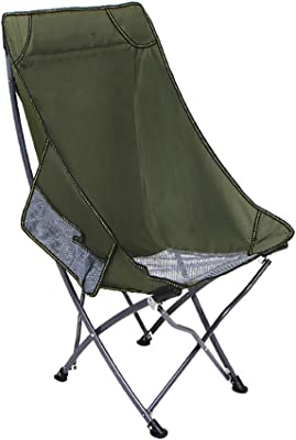 ZXL Folding Deck Chair Camping Fishing Sketching Office Household Multifunction Portable Chair(ArmyGreen)