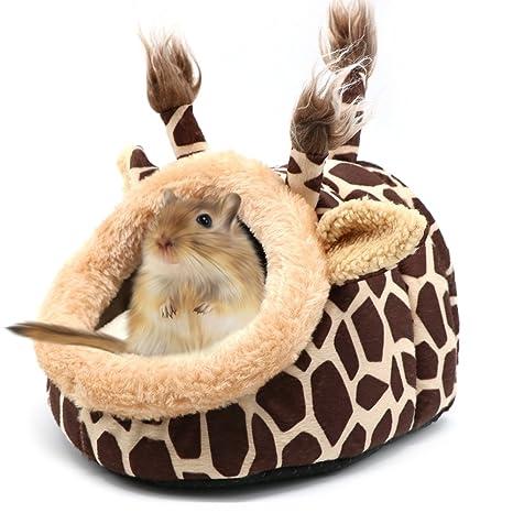 Divertido jirafa cama pequeña animal casa invierno cálido sofá cueva dormir Nido para hámster Rat erizo