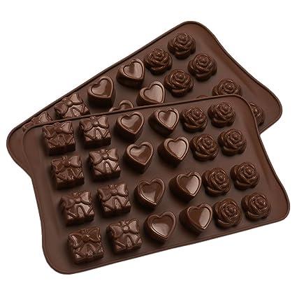 Amazon Com Rose Heart Silicone Chocolate Mold For Valentine