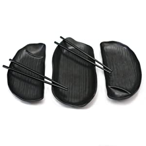 Sushi Set, 5 pieces (Black Melamine)