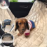 SIAYI Deluxe Pet Seat Cover (64″56″) with Quilted, Non-slip, Waterproof &Machine Washable Hammock Dog Car Seat Cover Great for Cars, SUV and Trucks. Review
