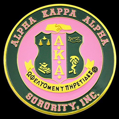Sorority Car - Alpha Kappa Apha Sorority Aluminum Car Tag Emblem