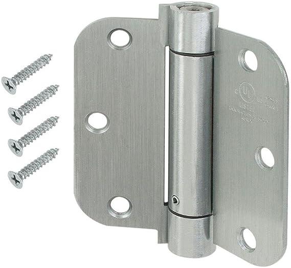 2 Pack UL Listed Cauldham Oil Rubbed Bronze Heavy-Duty 3-1//2 Self-Closing Spring Door Hinge with 5//8 Radius Corners