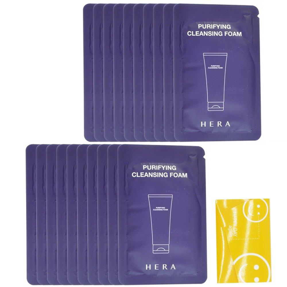 4ml X 20 Hera Purifying Cleansing Foam Total-80ml+ facial oil control sheet 1 ea