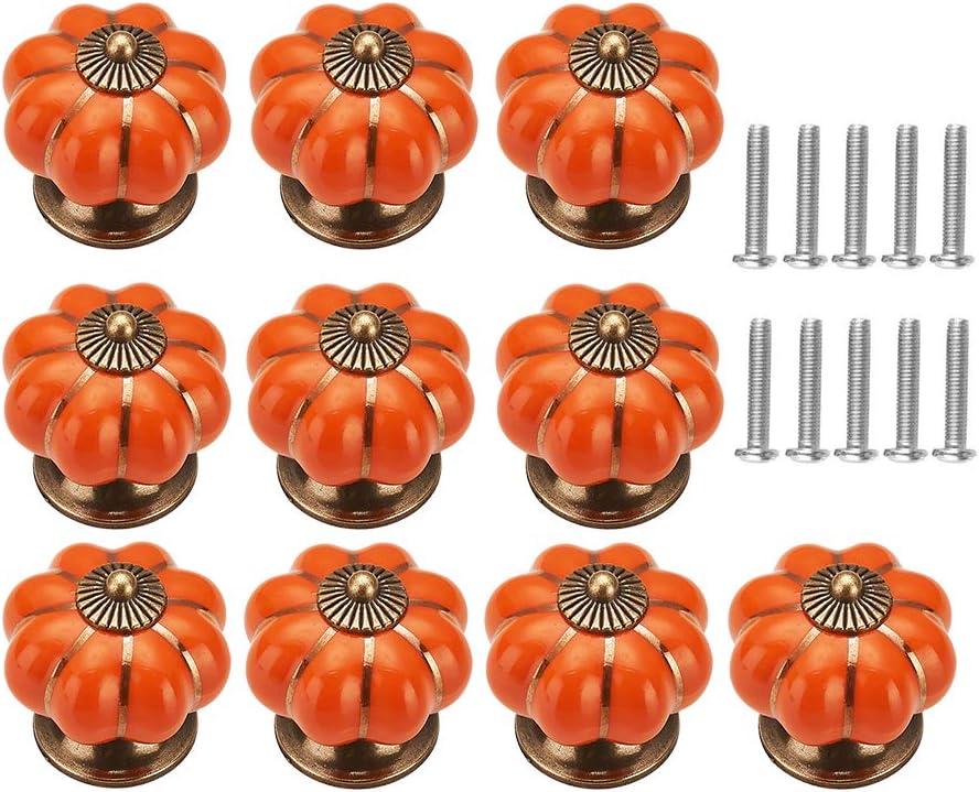 Blanc 10 Pcs Boutons de tiroir en C/éramique Bouton de Meuble pour Tiroirs et Placards de Cuisine